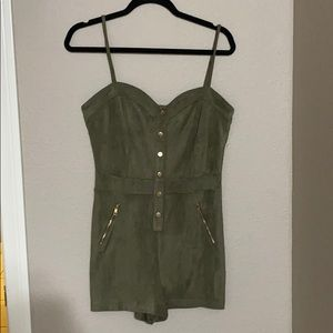 Army green romper